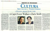 A Capri Foster Wallace e Zadie Smith